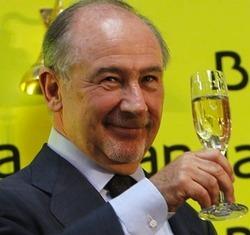 Presidente bankia rodrigo rato brinda dar tradicional toque campana inicio negociacion bolsa