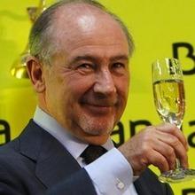 Square presidente bankia rodrigo rato brinda dar tradicional toque campana inicio negociacion bolsa